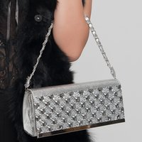 Wholesale Rhinestone Decoration Cell Phone - Wholesale-2016 new fashion woman evening bag rhinestone decoration women messenger bag Clutch js222