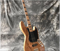 Solid Body 6 Strings Mahogany hot sell Vicers High quality electric BASS guitar to deliver EMS free shipping Wood color
