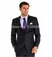 Wholesale Shiny Black Jackets For Men - Free shipping Custom made Italy high quality brand pure wool&silk fabric shiny black Suit for Wedding Business(jacket+pants)