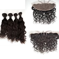 Wholesale curl cambodian hair - Curly Beyonce Curl,Water Wave Human Hair Bundles With Lace Frontal Closure Free Part Peruvian Virgin Hair G-EASY