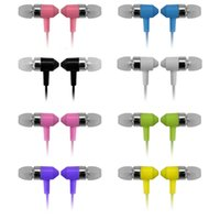 Wholesale Super Jacks - 3.5MM Jack In Ear Earphone with Mic Super Bass Music Headphone For IPhone Samsung MP3 MP4 Noise Cancelling Headset