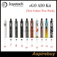 Wholesale E Liquid Colors - Joyetech eGo Aio Kit All-in-one Style Device with 1500mAh Battery and 2ml e Liquid illumination LED 10 New Colors New Arrivals New Pack
