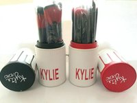 Wholesale Black Top Tools - In stock ! New arrival makeup brushes Kylie makeup bush 11pcs set Kylie brush black red foundation blush powder makeup tools top quality