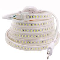 Wholesale Dimmer Switch Plug - Super Bright 110V 220V Led Strips Lights Waterproof IP67 180LEDs M SMD 5730 Led Strips Tape Rope Lights + 3m Switch Dimmer Wire Plug