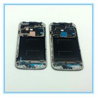 i337 lcd çerçeve toptan satış-10 adet / grup Orijinal Yeni LCD Ön Çerçeve Çerçeve Faceplate Konut Kapak Kılıf Samsung Galaxy S4 SI V i9505 i9500 i337 Gümüş Siyah