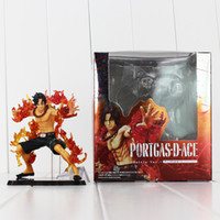 Wholesale Portgas D Ace Figure - 12cm Anime One Piece Portgas D Ace PVC Action Figure Collectable Model toy for kids Christmas gift free shipping