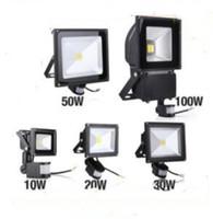 Wholesale Waterproof Infrared Lights - PIR Infrared Motion Sensor led floodlight 110-265V Waterproof 10W 20W 30W 50W COB IP65 led Flood Light for led spotlight outdoor Lights MYY