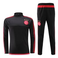 Wholesale Mens Black Spandex Pants - ^_^ Wholesale soccer tracksuit AJAX top AAA quality long sleeve Training suit pants football training clothes sports wear mens Sweater