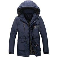 Wholesale 7xl Winter Coats - Wholesale- New obesity down jacket to keep warm feather coats men's winter coat and cotton-padded clothes size X 6XL 7XL 8XL free shipping