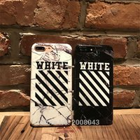 Wholesale Iphone Cases Stones - Off White Phone Case Marble Stone Religion Virgil Abloh Cover Case for iPhone 7 7 plus 6 6s plus High quality