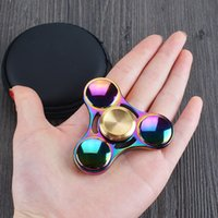 Wholesale Antistress Colorful Fidget Toy Hand Spinner Rotation Time Long For Autism and ADHD fidget spinner Funny Anti Stress spiner