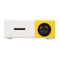 Wholesale Dvd Home Cinema - Wholesale-Mini YG300 Mini Micro LED Projector Cinema Theater DVDs HDMI AV Home Media Player Home Projector