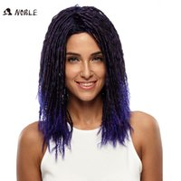 Wholesale Rebecca Faux Locks Crochet Braids Ombre Dreadlock Synthetic Hair Curly Wig Inch Long Straight Synthetic Hair Wigs Noble Brand
