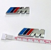 Wholesale Bmw E36 Race - 4.5CM M Power Racing Side Fender Badge Decal Sticker M Logo Emblem for BMW X3 X5 X6 F10 F30 E60 E90 E36