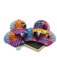 Wholesale Animal Baseball Caps For Kids - 2017 Unisex Child Baseball Cap Kids Baby Bear Design Stripe Adjustable Soft Brim Baseball Hat for 6-24 Months