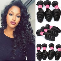 Wholesale Unprocessed Virgin Malaysian Loose Wave - Wholesale 8A Malaysian Loose Wave Hair Products Unprocessed Human Hair Weave Virgin Malaysian Loose Hair Extensions Dyeable Natural Color
