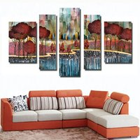 Wholesale Tree Art Big Canvas - Wholesale Cheap Photo Abstract trees Modern Poster Prints Pop Big Canvas Oil Painting Bedroom Wall Art Decor Gifts