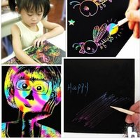 16K Colorful Scratch Art Magic Drawing Toys Painting Paper Kids Toy Magic Малярная бумага для рисования KKA2082