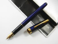 Wholesale Golden Trims - Parker Sonnet Blue Lacquer With Golden Trim M Nib Fountain Pen