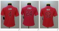 Wholesale Womens Sport Shirt Xl - Womens Oakland Pink #4 Derek Carr 24 Marshawn Lynch 52 Khalil Mack American College Football Stitched Shirts Embroidery Sports Team Jerseys