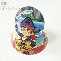 Wholesale Jake Caps - Wholesale-Party supplies 20PCS Kids children Captain Jake Pirate theme party, birthday party decoration paper cap hat