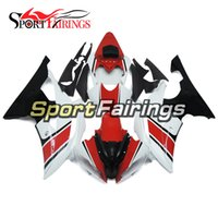 Carénages complets pour Yamaha YZF600 R6 08 - 15 ans 2008 2009 2010 2011 2015 Sportbike ABS Pearl White Red Motorcycle Fairing Kit Cowlings