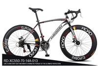 Wholesale Black Road Bike Rims - EUROBIKE 700*49 cm steel bicycle XC550 road bike 21 speed racing bike no folding bike 160-185CM double disc brake 70 rims