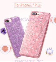 Wholesale Faceplate Design - Iphone 7 7 plus 6s 5s Case Soft Clear Cases Luxury Bling Sparkle Faceplate Colorful Stripe Design Semi-transparent Flexible Crystal TPU Case