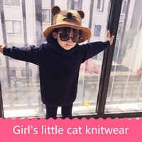 Wholesale Knit Baby Fedora Hats - The new fish-cap knitting hair line girl baby cat han plate hat