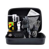 Wholesale E 14 - Quartz E Dab Nail Box Kit Electic 14 18 MM Female Male Quartz Nail Electric Dab Nail Complete Kit Temperature Controller 100w Dabber Tools