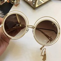 Wholesale Face Sunglass - 139 Sunglass Luxury Women Brand Deisnger CE139 Big Round Face Uv400 Len Summer Style Adumbral Butterfly Designer Big Face Come With Case