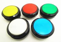 aydınlatılmış basma düğmesi toptan satış-6 adet 60mm işıklı düğme Işıklı yuvarlak Push Button ile arcade oyun makinesi için microswitch, backetball oyun makinesi