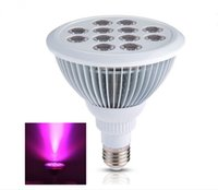 Wholesale Orchid Led - Led Grow light Bulb , Grow Plant Light for Hydropoics Greenhouse Organic ( E26 12w 3 Bands) used to grow orchids, roses, peppers, tomatoes