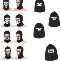 Wholesale tactical beanies resale online - Tactical Skull Caps Mouth Balaclava Outdoor Windproof Breathable Mash Balaclava CS Full Face Mask Helmet Full Face Mask Hats Cap KKA2525