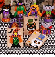 Wholesale Halloween Spiders Wholesale - Tricks and treats Halloween candy gift bags, hand bags, cotton canvas handbags, children, pumpkin spiders, children candy bags, gift bags