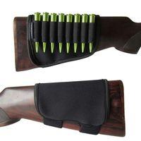Wholesale Rifle Ammo Holder - Tourbon Rifle Bullets Carrier Cartridge Buttstock Holder Ammo Case Neoprene Hunt