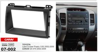Wholesale Double Din Toyota - CARAV 07-002 Car Stereo Radio installation frame Double Din in Dash Facia Fascia Kit for LEXUSGX(470)TOYOTA Land Cruiser Prado