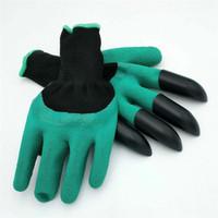 découper des gants achat en gros de-Gants de génie de jardin avec 4 griffes Unisèx Nitrile résistant aux coupures sans usure Griffes unisexes Griffes gauches