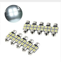 100PCS 31mm 4SMD 5050 LED coche Interior Festoon cúpula bombillas lámpara DC 12V blanco interior luces precio al por mayor