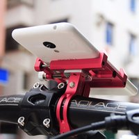 Wholesale Bicycle Bike Gps - Bike Accessories New Solid Metal Bike Bicycle Motorcycle Handle Phone Mount Holder For CellPhone GPS Free Shipping