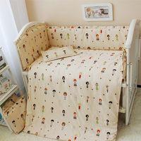 Wholesale Bumper Sets For Girls - Washable 120*70cm 10Pcs Baby Crib Bedding Set, Boy & Girl Baby Bedding Bumpers For The Crib, Newborn Infant Baby Bedding Suit
