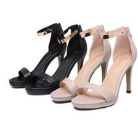 Wholesale Shoes Fish Heels - 2017, the new summer fish mouth sandals, women heel heel shoes, Europe and America fashion leather sandals, spot wholesale