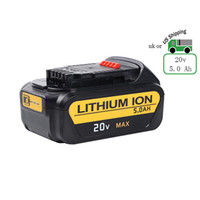 Wholesale Wholesale Cordless Drill Batteries - 20V 5.0Ah Lithium Replacement Battery for Dewalt Cordless Drill Max DCB205 DCB180 DCD985B DCB200 DCD771C2 DCB204 DCS355D1 DCD790B High Ca