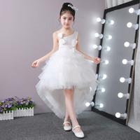 Wholesale Piano Images - Children's princess dress skirt wedding dress trailing bitter fleabane bitter fleabane skirt girl dress costumes summer flower piano