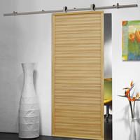 Wholesale barn hardware wood door - 6.6 FT Modern Stainless Steel Sliding Barn Wood Door Closet Hardware Track Set