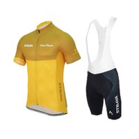Wholesale Black Padded Sports Wear - Strava Summer Cycling Jersey Ropa Ciclismo mens Bike Clothing Quick-Dry Bicycle Sports wear GEL Pad Bike Bib Pants C0612