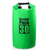 Wholesale Camping Storage - Top Quality Ocean Pack Outdoor 500D PVC Waterproof 30 litre Dry Sack Storage Bag Rafting Sports Kayaking Canoeing Swimming Bag Travel Kits