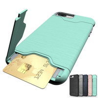 Wholesale Cell Combo - Case for iPhone 7 Plus iPhone 6 6S Plus Cell Phone Combo Case TPU + PC Back Cover with Card Slot