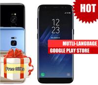 Wholesale Mp3 Player Camera China - Clone Phone S8 Goophone S8 plus android 7.0 4G LTE MTK6580 64bit Quad Core 1920x1080 Fingerprint 1GB RAM 16GB ROM Show 4+64GB china phones