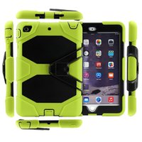 3 em 1 Shockproof Hybrid Defender Case Robot Heavy Duty Cover Com kickstand para ipad mini ipad 5 6